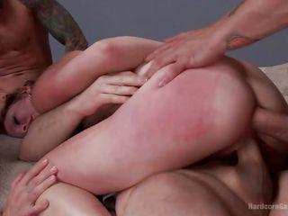Порно трах двойное проникновение