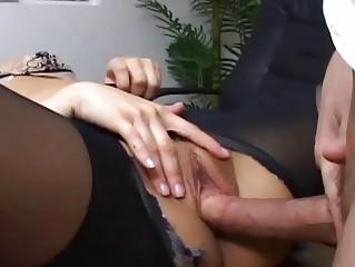 Секс с грудастой блондинкой